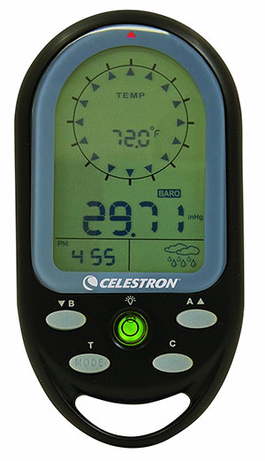 Celestron Trek Guide Digital Compass camping things to pack in backpack gps for trekking adventure gps navigation