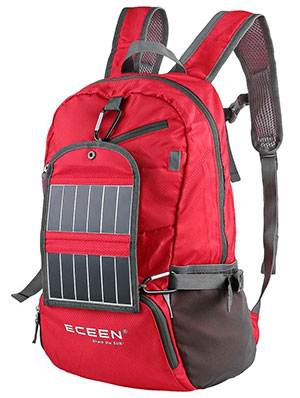 portable power ECEEN Solar Powered Hiking Daypacks with 3.25 Watts Solar Charger for Hiking camping things to pack for Backpacking