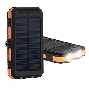usb portable power charger for iphone Solar Charger for camping things to take travelling Hiluckey Solar Panel Portable Battery Charger portable power