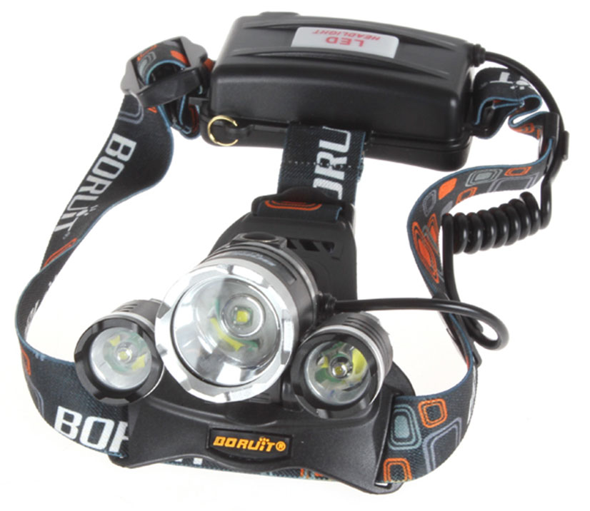 Borlite LIGHT 5000 Lumen CREE XM L XML 3 x T6 LED Headlight for trekking Light best Headlamps to go hiking camping things to pack